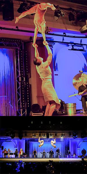 Support Act bei akrobatischen Shows